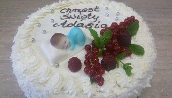 Tort na Chrzest Święty dla chłopca