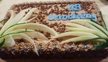 Tort czekoladowy - okolicznościowy